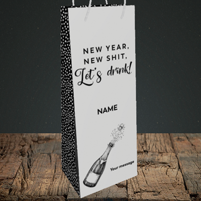 Picture of Let's Drink(Without Photo), New Year Design, Bottle Bag