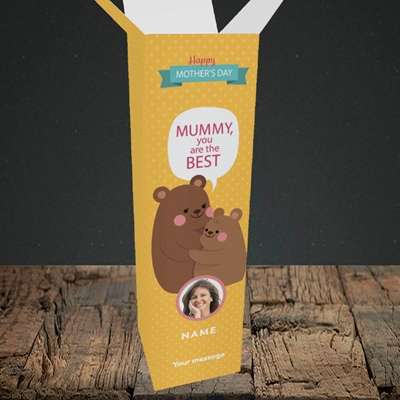 Picture of Mummy You Are The Best Bear, Mother's Day Design, Upright Bottle Box