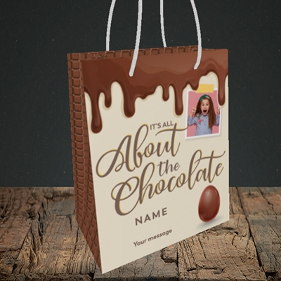 Picture of All About The Chocolate, Easter Design, Small Portrait Gift Bag