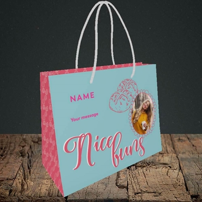 Picture of Nice Buns, Easter Design, Small Landscape Gift Bag
