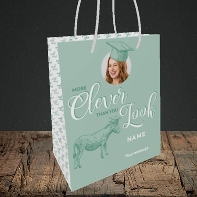 Picture of Clever, Graduation Design, Small Portrait Gift Bag