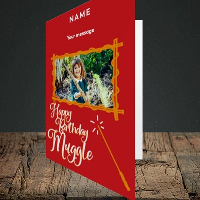 Picture of Muggle, Birthday Design, Portrait Greetings Card