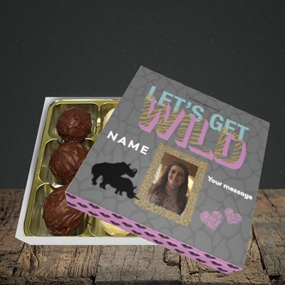 Picture of Let's Get Wild, Valentine's Design, Choc 9