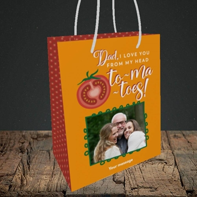 Picture of Tomatoes, Father's Day Design, Small Portrait Gift Bag