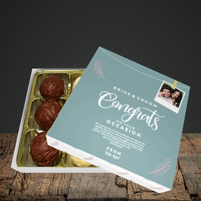Picture of Peg & Polaroid Teal B&G, Wedding Design, Choc 9