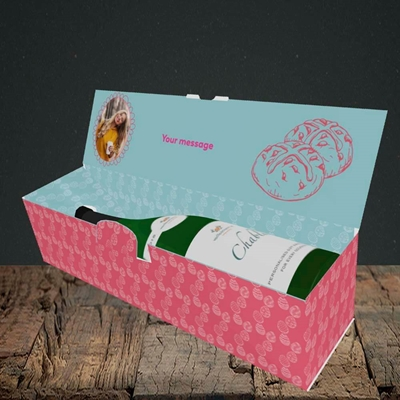 Picture of Nice Buns, Easter Design, Lay-down Bottle Box