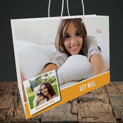 Picture of Photo, Get Well Design, Medium Landscape Gift Bag