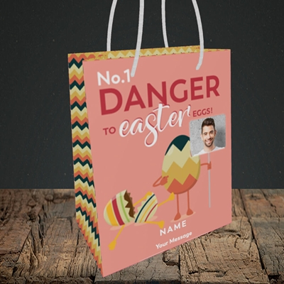 Picture of No.1 Danger, Easter Design, Small Portrait Gift Bag