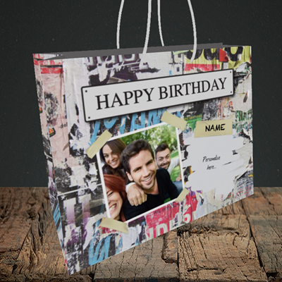 Picture of Graffiti, Birthday Design, Medium Landscape Gift Bag