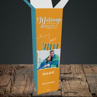 Picture of Neverending Sleepover, Wedding Design, Upright Bottle Box