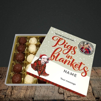 Picture of Pigs In Blankets, Christmas Design, Choc 25