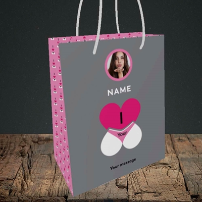 Picture of I Love Your Bum, Valentine's Design, Small Portrait Gift Bag