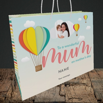 Picture of Hot Air Balloon, Mother's Day Design, Medium Landscape Gift Bag