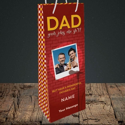 Picture of Dad Jokes, Father's Day Design, Bottle Bag