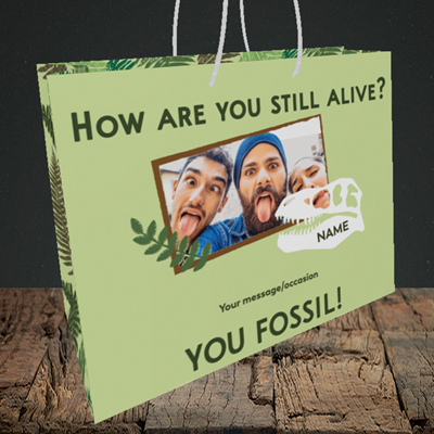 Picture of Fossil, Birthday Design, Medium Landscape Gift Bag