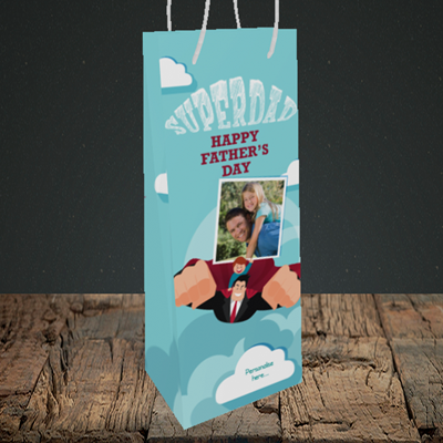 Picture of Superdad, Father's Day Design, Bottle Bag
