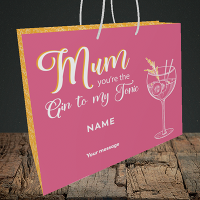 Picture of Gin To My Tonic, (Without Photo) Mother's Day Design, Medium Landscape Gift Bag