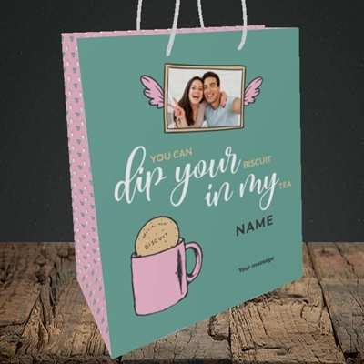 Picture of Dip Your... In My, Valentine's Design, Medium Portrait Gift Bag