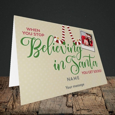 Picture of Believing In Santa, Christmas Design, Landscape Greetings Card