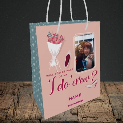 Picture of I Do Crew, Wedding Design, Small Portrait Gift Bag