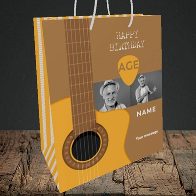 Picture of Acoustic Age, Birthday Design, Medium Portrait Gift Bag