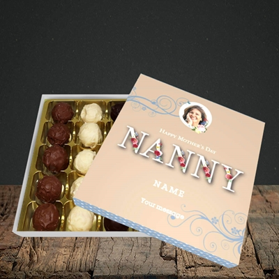 Picture of Nanny Floral Letters, Mother's Day Design, Choc 25