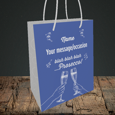Picture of Blah, (Without Photo) Birthday Design, Small Portrait Gift Bag