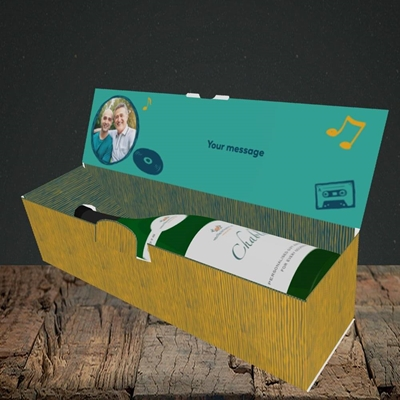 Picture of Top Of The Pops, Father's Day Design, Lay-down Bottle Box