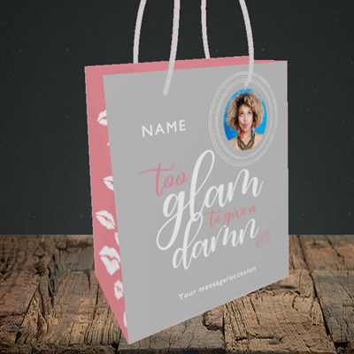 Picture of Glam, Birthday Design, Small portrait Gift Bag