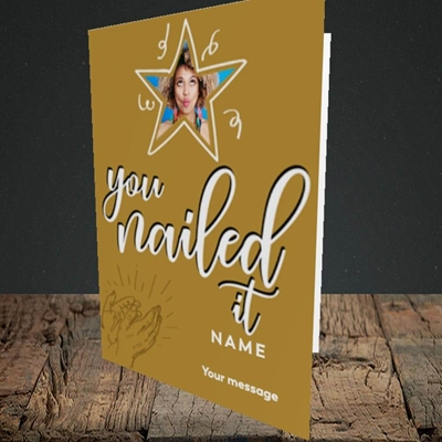 Picture of Nailed It, Graduation Design, Portrait Greetings Card