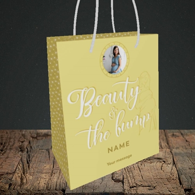Picture of Beauty & The Bump, Pregnancy Design, Small portrait Gift Bag
