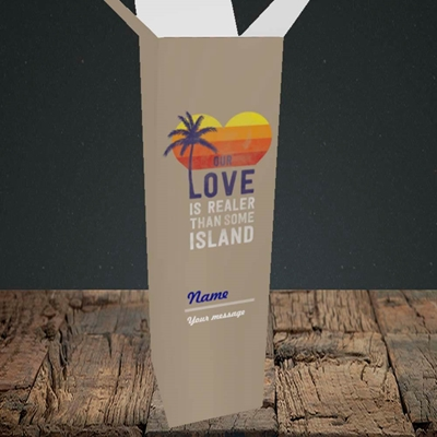 Picture of Our Love Is Realer(Without Photo), Valentine's Design, Upright Bottle Box
