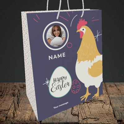 Picture of Easter Hen, Easter Design, Medium Portrait Gift Bag