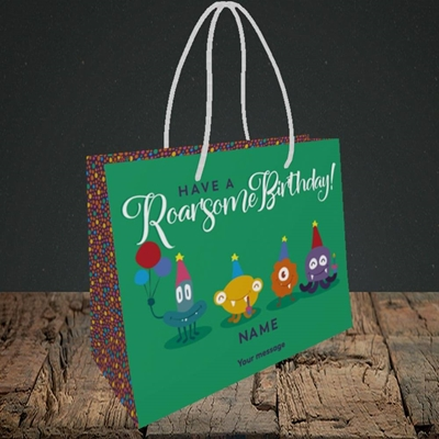 Picture of Roarsome(Without Photo), Birthday Design, Small Landscape Gift Bag