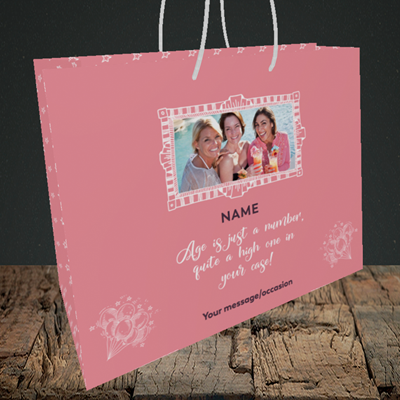 Picture of Age, Birthday Design, Medium Landscape Gift Bag