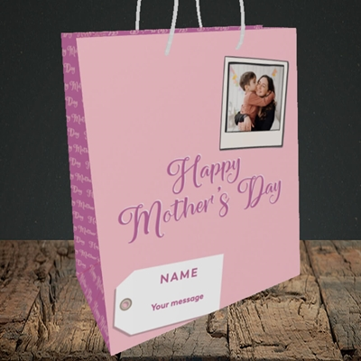 Picture of 2. Polaroid, Mother's Day Design, Medium Portrait Gift Bag
