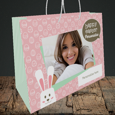 Picture of Rabbits, Easter Design, Medium Landscape Gift Bag
