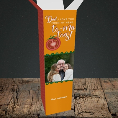 Picture of Tomatoes, Father's Day Design, Upright Bottle Box