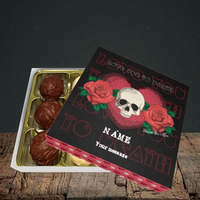 Picture of Love You To Death(Without Photo), Valentine Design, Choc 9