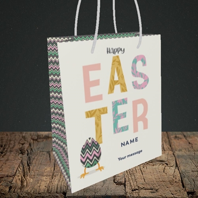 Picture of Happy Walking Egg(Without Photo), Easter Design, Small Portrait Gift Bag