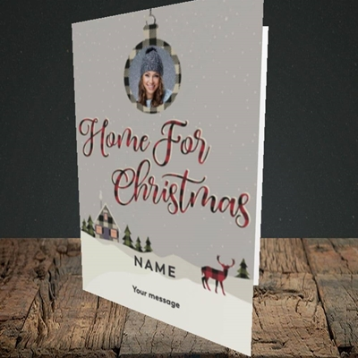 Picture of Home For Christmas, Christmas Design, Portrait Greetings Card