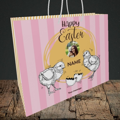 Picture of Little Chicks, Easter Design, Medium Landscape Gift Bag