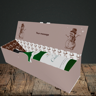 Picture of Snowman Like You(Without Photo), Christmas Design, Lay-down Bottle Box