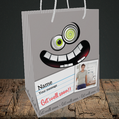 Picture of Mad, Get Well Soon Design, Medium Portrait Gift Bag