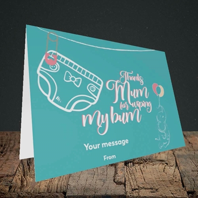 Picture of Wiping My Bum(Without Photo), Mother's Day Design, Landscape Greetings Card