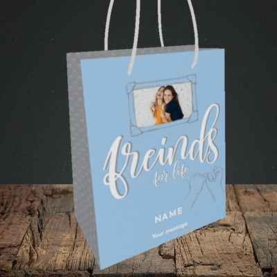 Picture of Friends For Life, Thinking of You Design, Small Portrait Gift Bag