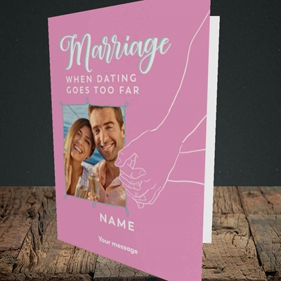 Picture of Dating Goes Too Far, Wedding Design, Portrait Greetings Card