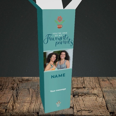 Picture of Favourite Parents, Mother's Day Design, Upright Bottle Box