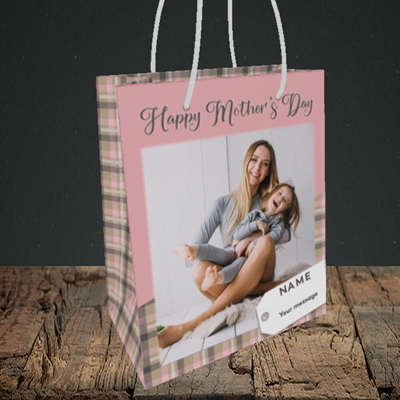 Picture of 1. Large Photo(Chequer), Mother's Day Design, Small Portrait Gift Bag