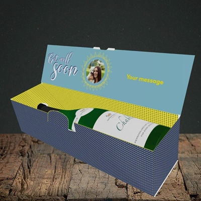 Picture of Sun & Flowers, Get Well Soon Design, Lay-down Bottle Box